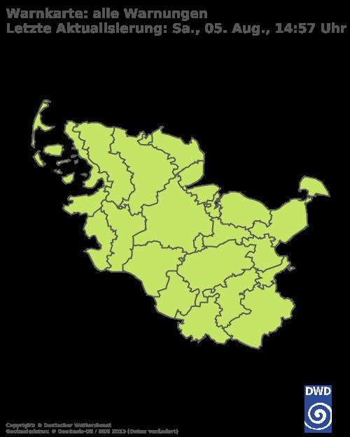 Aktuelle Wetterwarnungen für Stormarn